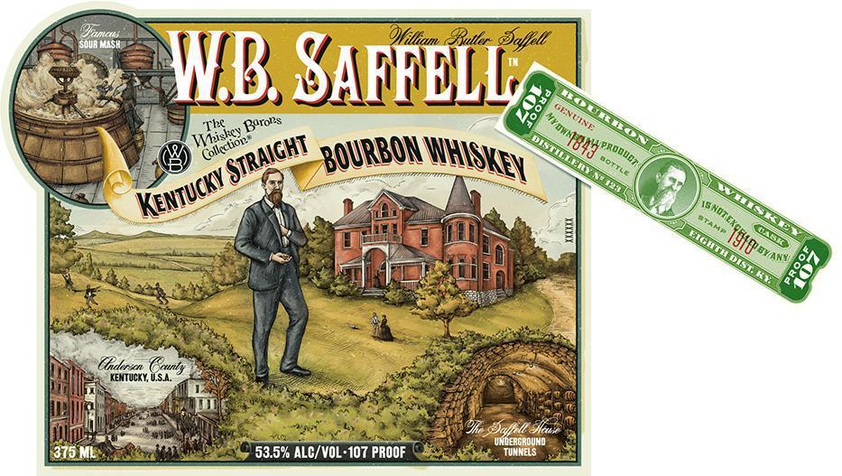 W B Saffell Label