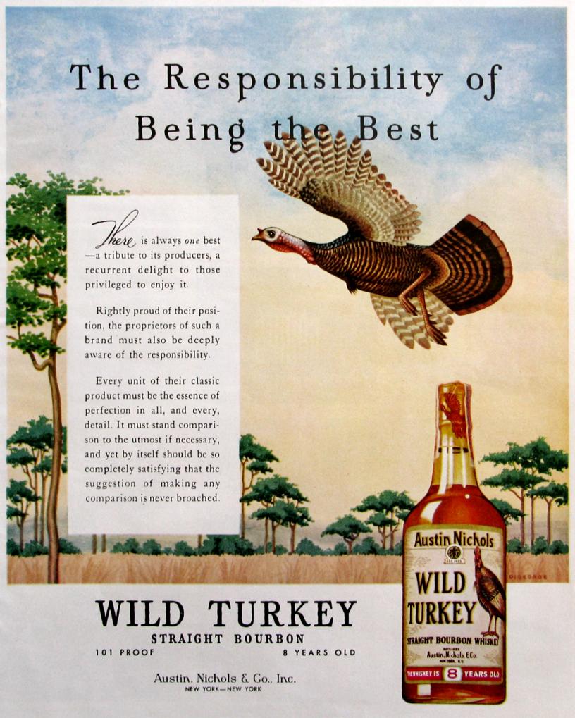 1963 Wild Turkey Ad